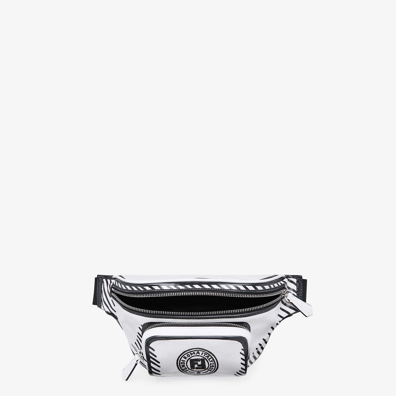 FENDI BELT BAG - White canvas belt bag - view 4 detail