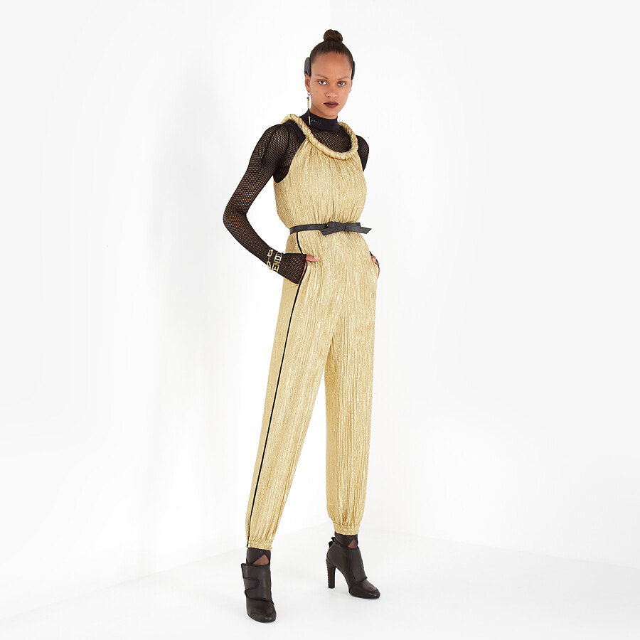 FENDI JUMPSUIT - Gold Lurex jumpsuit - view 4 detail