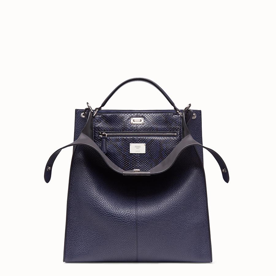 FENDI PEEKABOO X-LITE FIT - Blue calf leather bag - view 1 detail