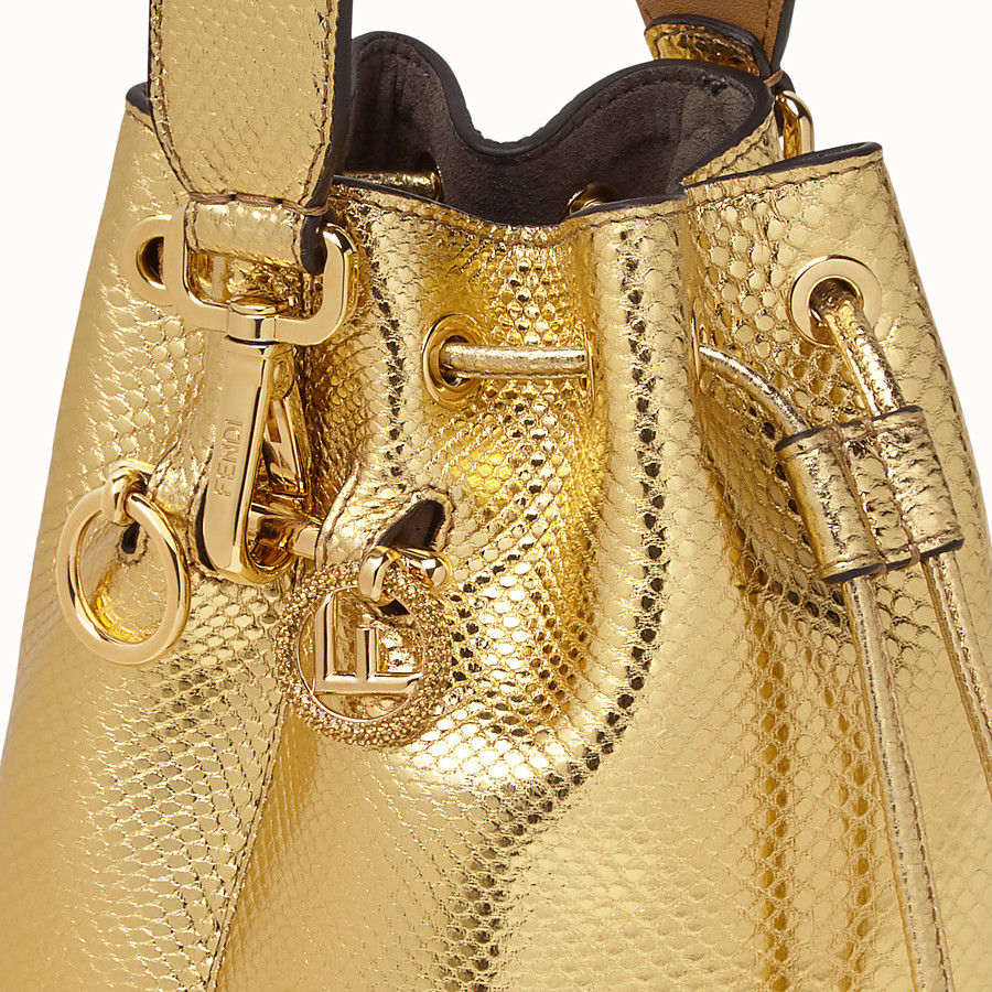 FENDI MON TRESOR - Gold coloured karung mini-bag - view 5 detail