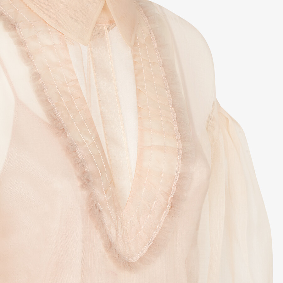 FENDI SHIRT - Pink sea silk blouse - view 3 detail
