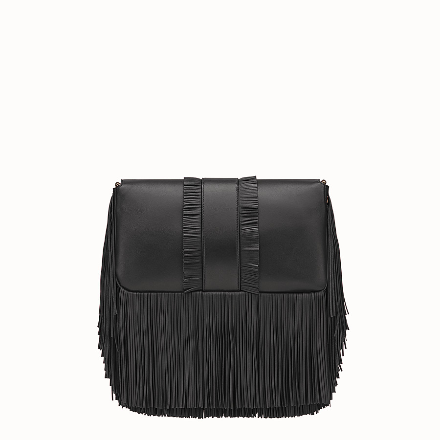 FENDI BAGUETTE - Black nappa bag - view 3 detail