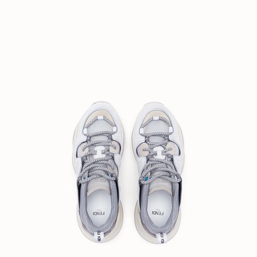 FENDI SNEAKER - Niedriger Sneaker aus Veloursleder in Weiß - view 4 detail