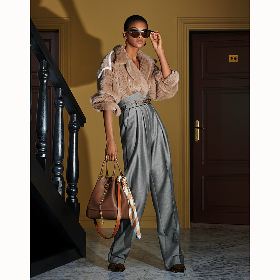 FENDI TROUSERS - Trousers in houndstooth wool - view 4 detail