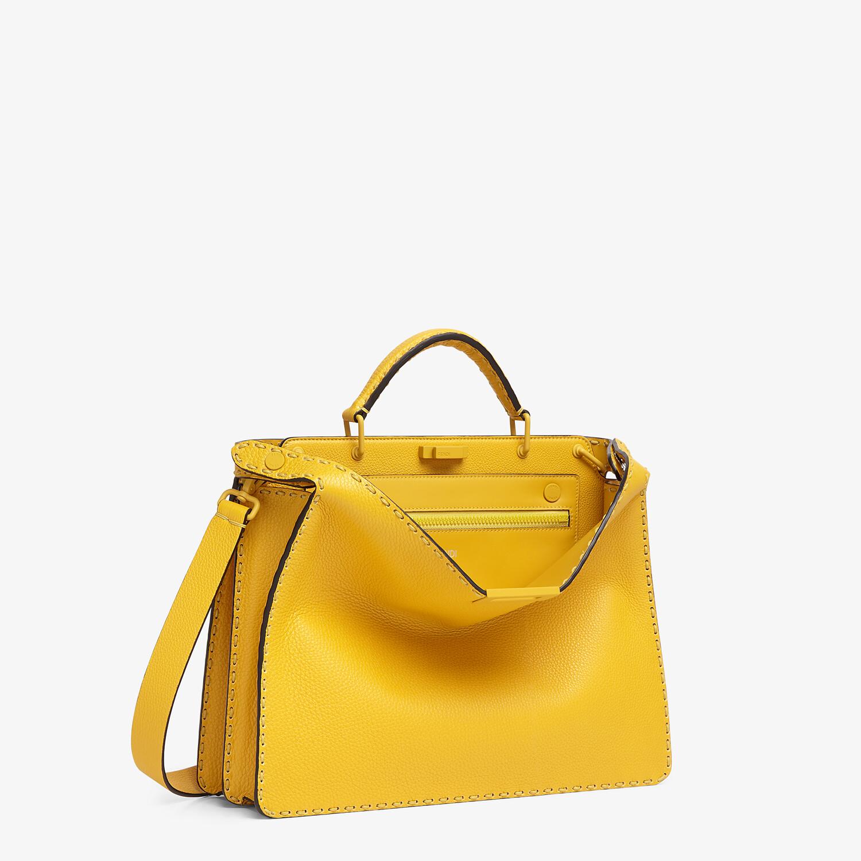 FENDI PEEKABOO ISEEU MEDIUM - Yellow leather bag - view 3 detail