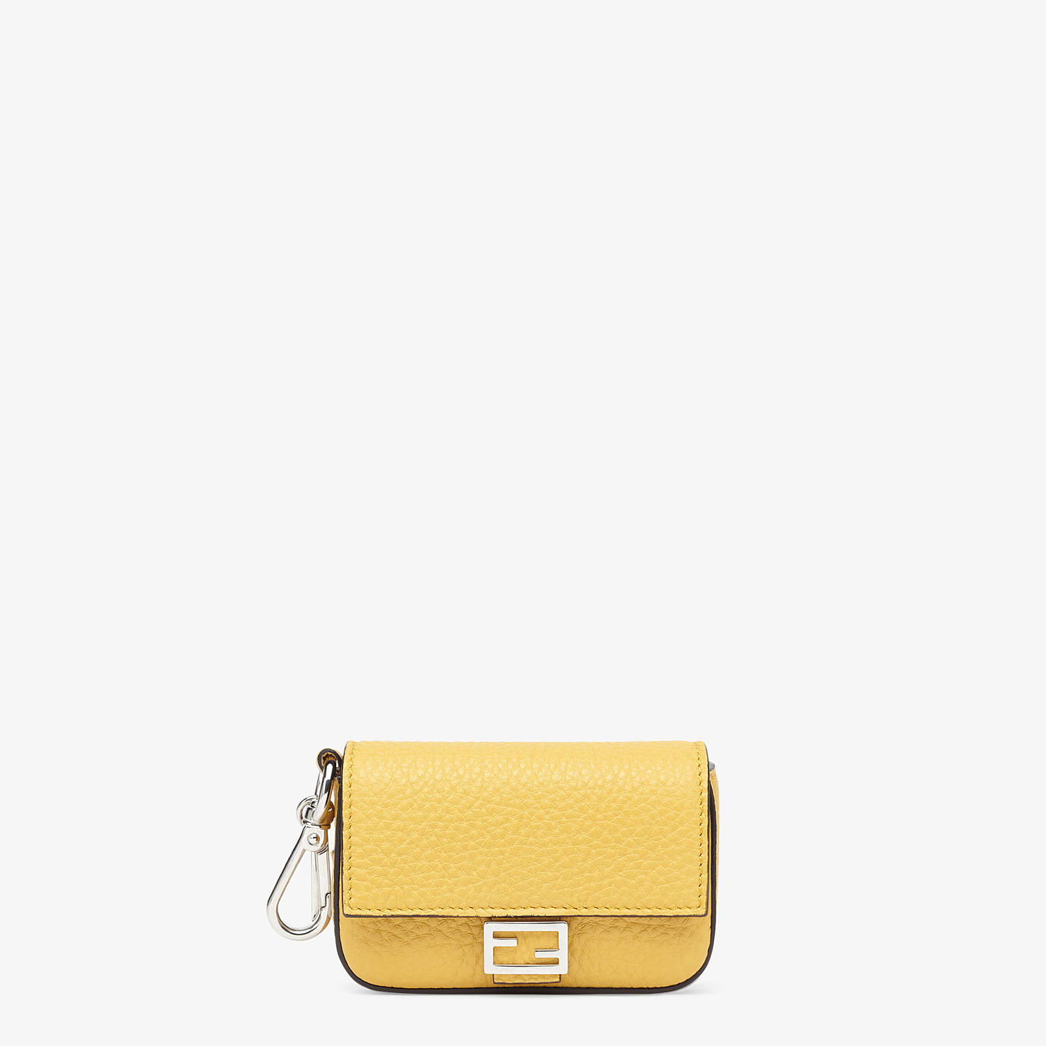 FENDI NANO BAGUETTE CHARM - Yellow leather charm - view 1 detail
