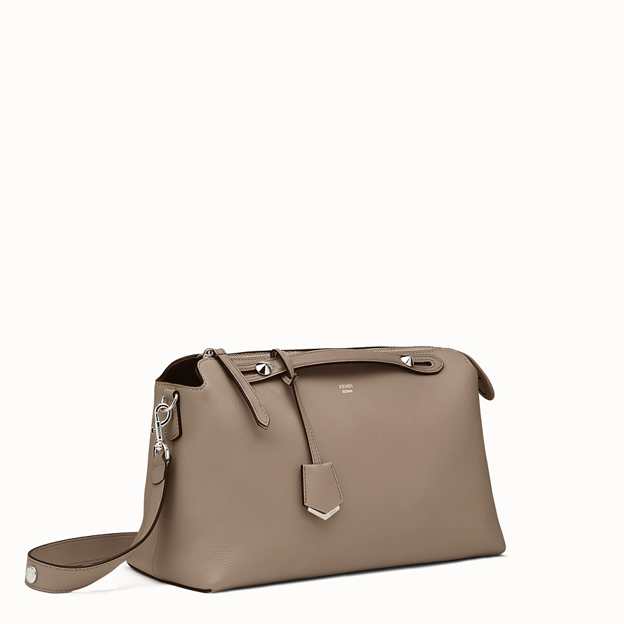 a48c18a9cf46 Boston bag in beige leather - LARGE BY THE WAY