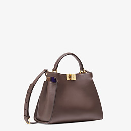 FENDI PEEKABOO ICONIC ESSENTIALLY - Brown leather bag - view 3 thumbnail