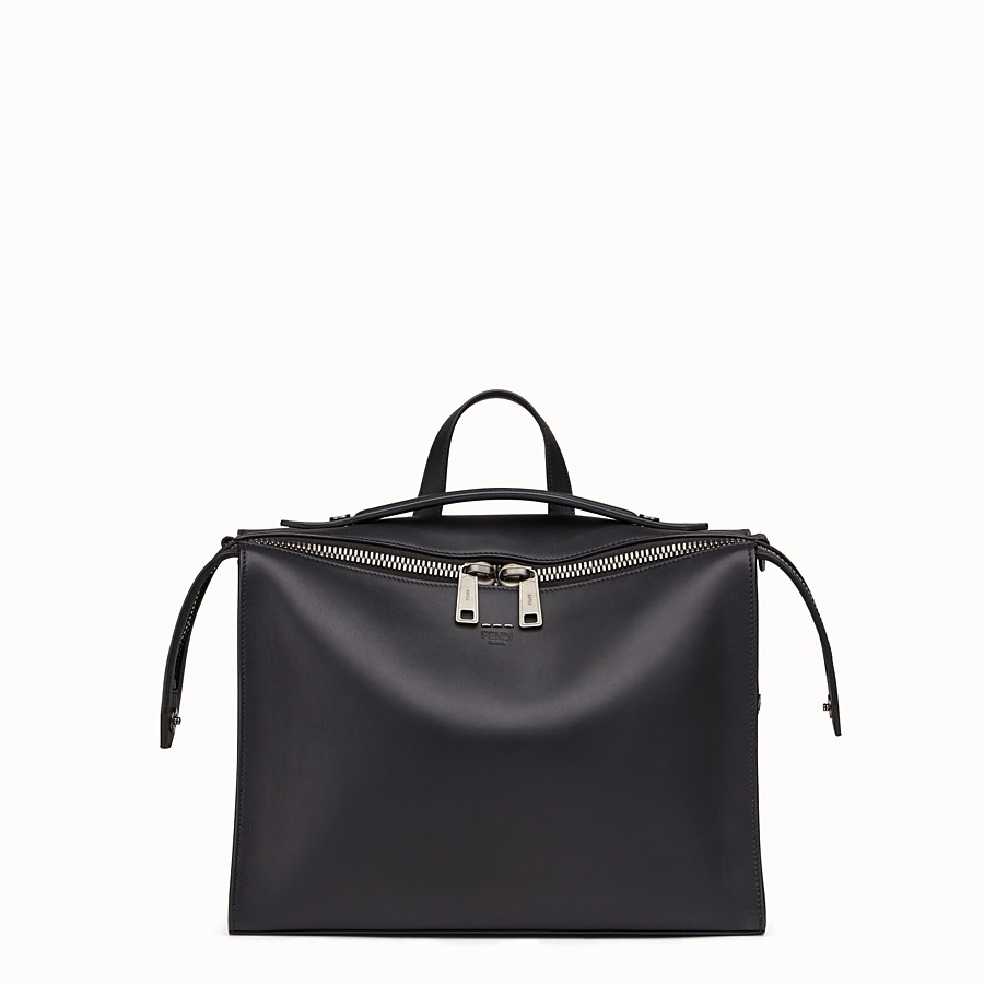 FENDI MESSENGER - Smooth black-leather bag - view 1 detail