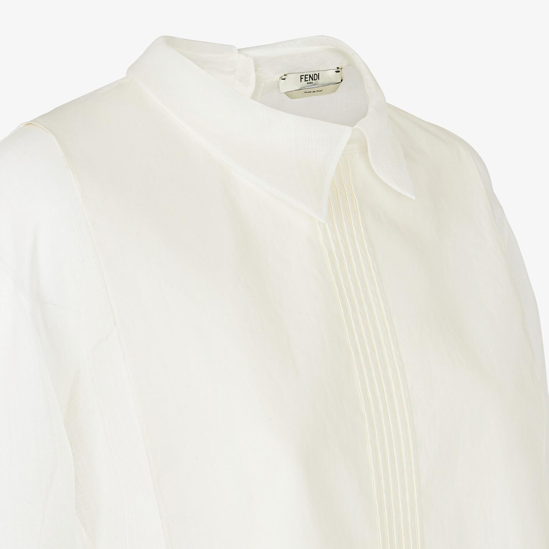 FENDI SHIRT - White silk shirt - view 3 detail