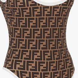 FENDI ONE-PIECE SWIMSUIT - White Lycra one-piece swimsuit - view 3 thumbnail