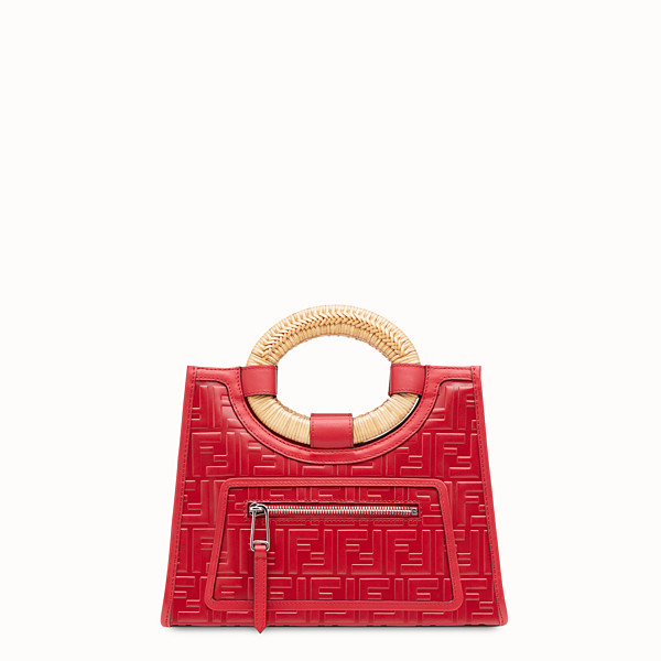 FENDI RUNAWAY SHOPPER - Red leather small shopper - view 1 small thumbnail