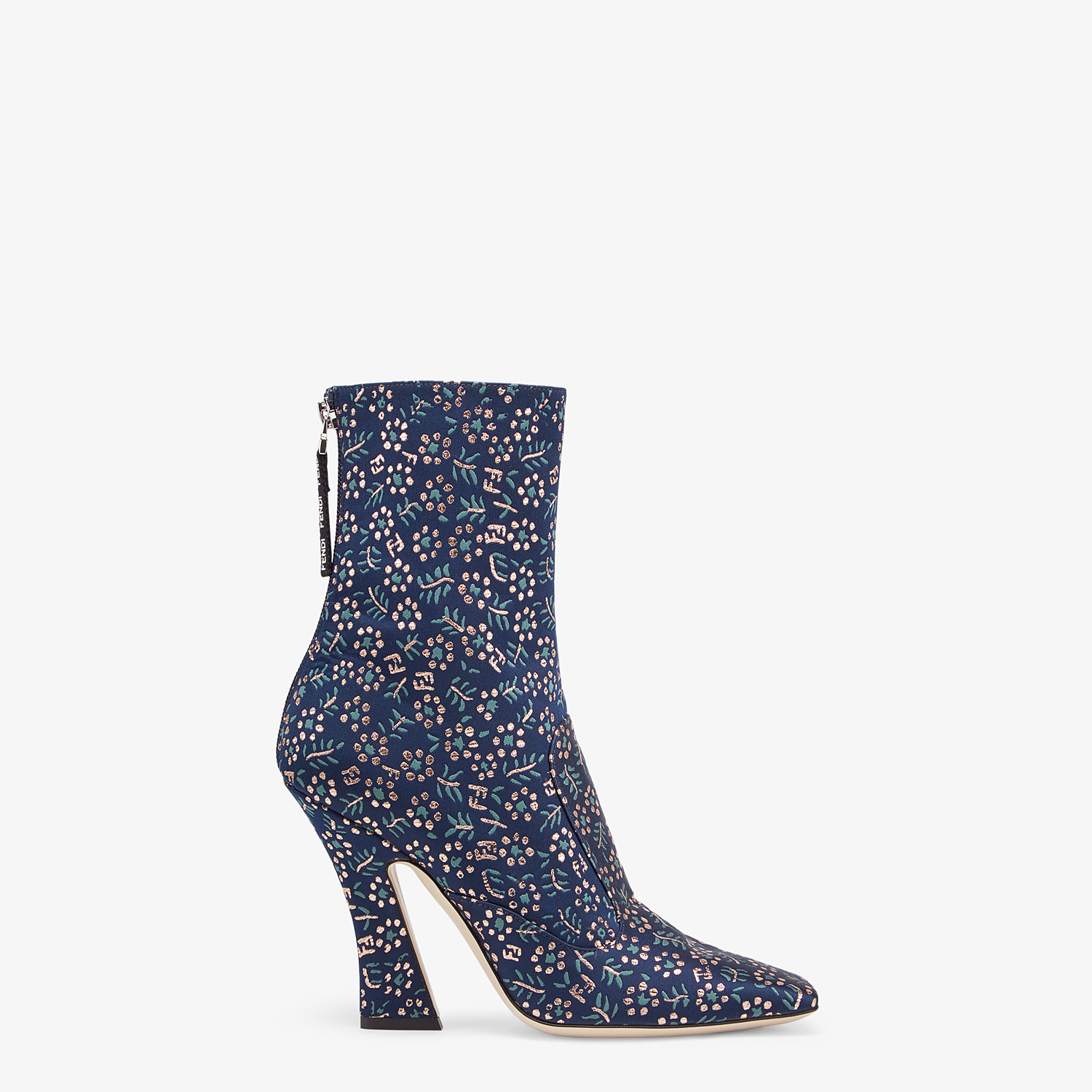 FENDI ANKLE BOOTS - Multicolor fabric booties - view 1 detail