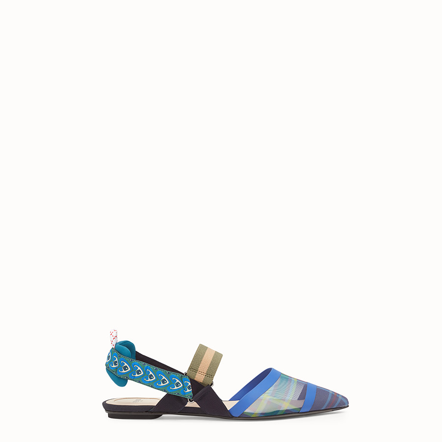 FENDI SLINGBACKS - Multicolour technical mesh sabots - view 1 detail