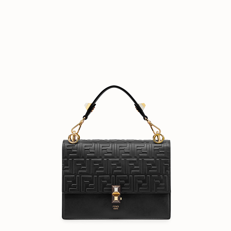 FENDI KAN I - Black leather bag - view 1 detail