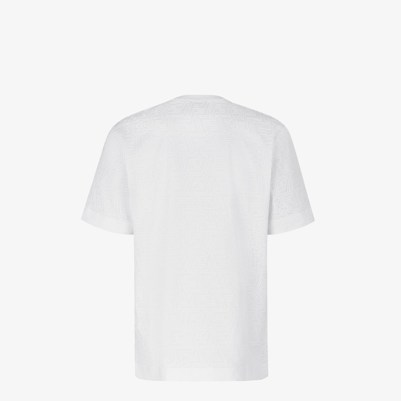 FENDI T-SHIRT - White jersey T-shirt - view 2 detail