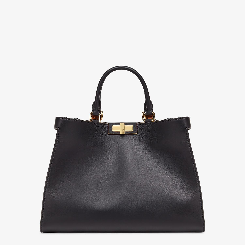 FENDI SMALL PEEKABOO X-TOTE - Black leather bag - view 1 detail