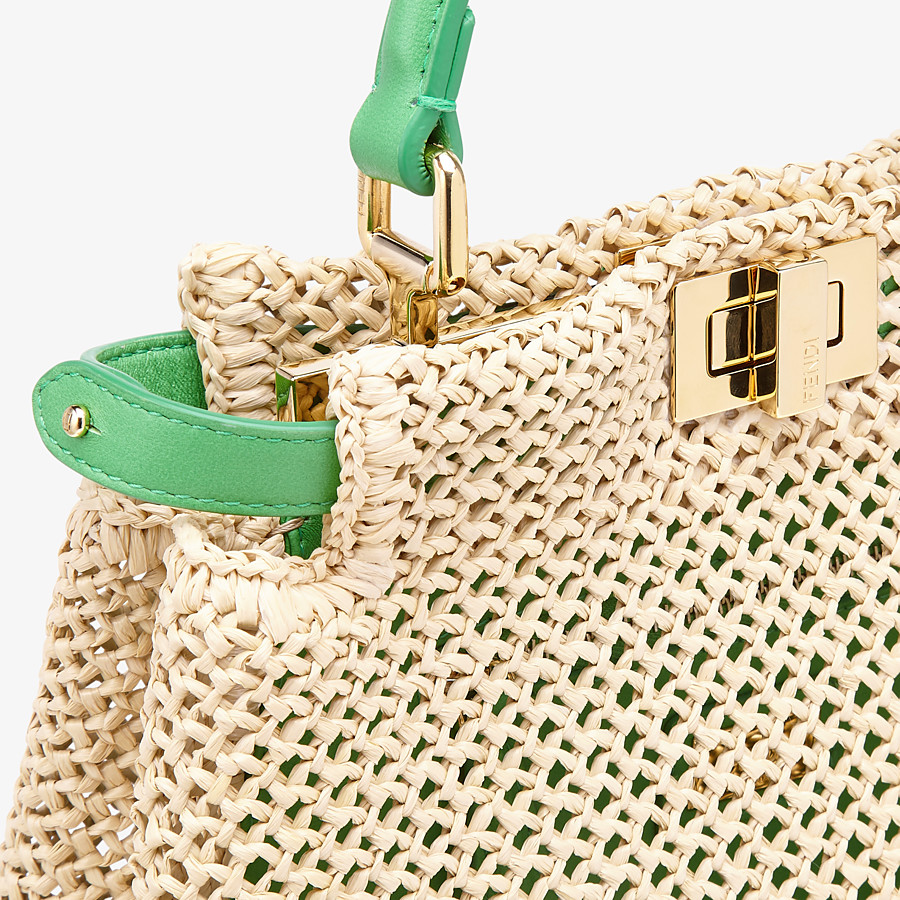 FENDI PEEKABOO ICONIC MINI - Natural raffia bag - view 6 detail