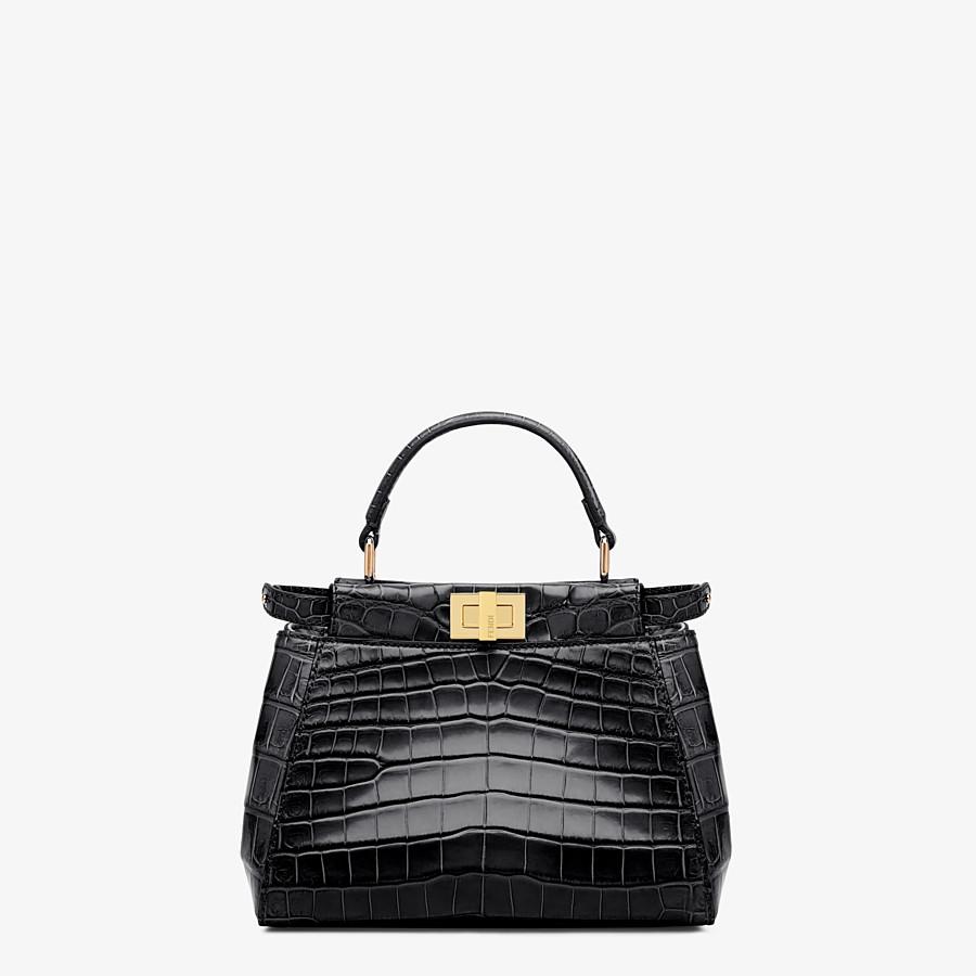 FENDI PEEKABOO MINI - Black crocodile handbag - view 1 detail