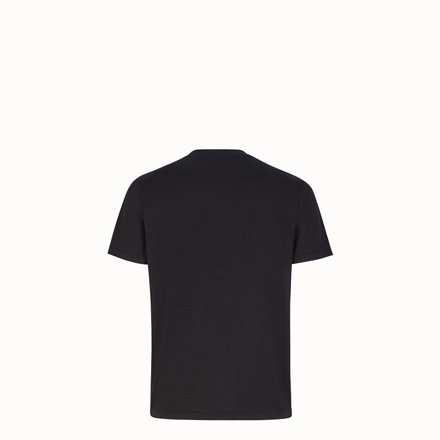 FENDI T 恤 - 黑色棉質 T 恤 - view 2 detail