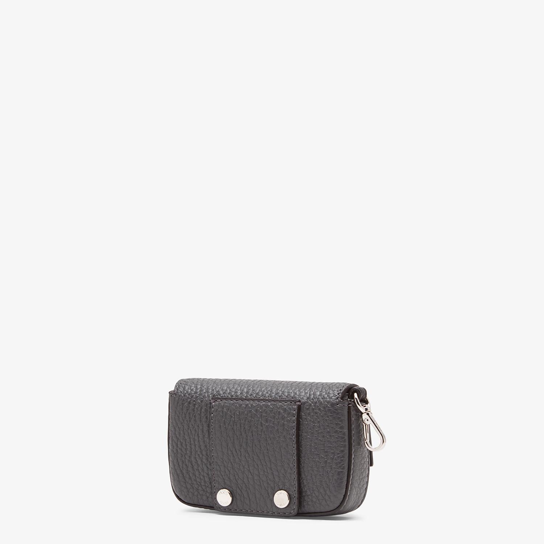 FENDI NANO BAGUETTE CHARM - Grey leather charm - view 2 detail