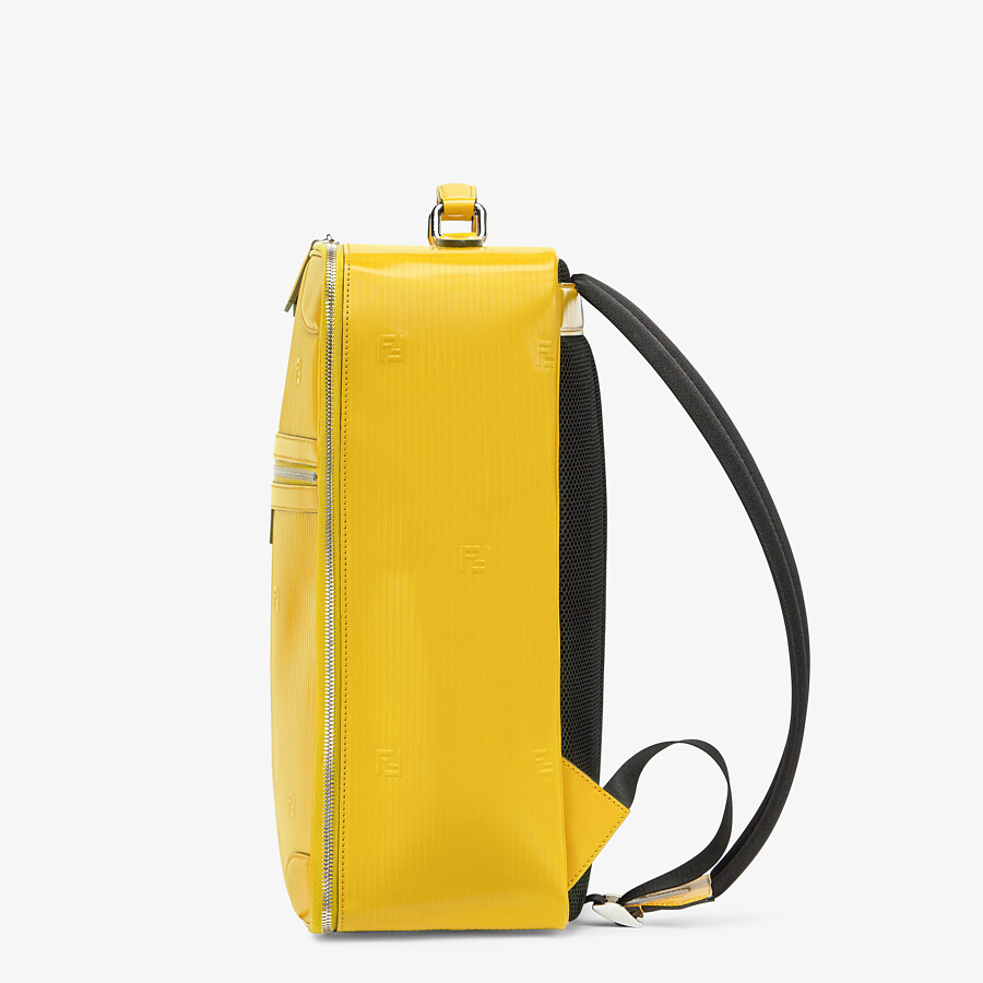 FENDI TRAVEL BACKPACK - Yellow leather backpack - view 2 detail