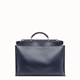 FENDI PEEKABOO ICONIC ESSENTIAL - Blue leather bag - view 3 thumbnail