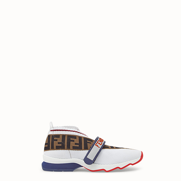 FENDI SNEAKERS - Sneakers en tissu blanc - view 1 small thumbnail