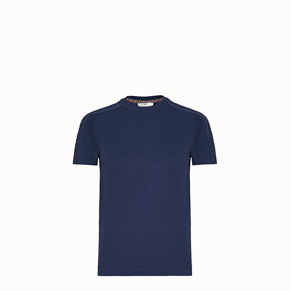 FENDI T-SHIRT - T-Shirt aus Jersey in Blau - view 1 small thumbnail