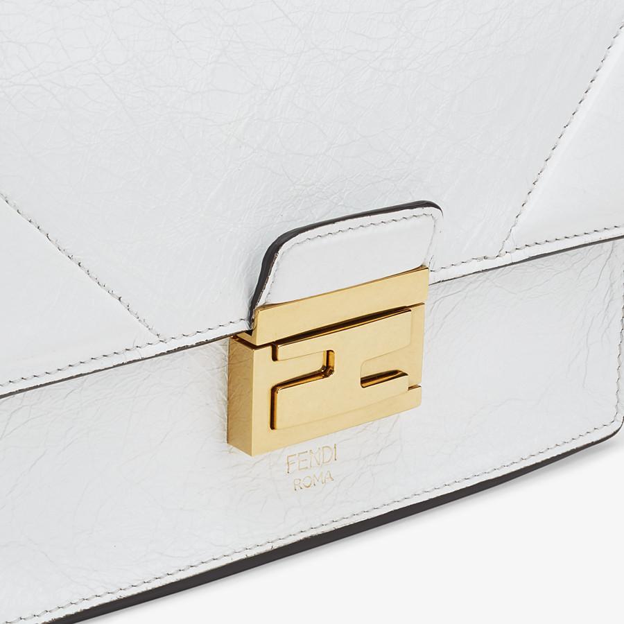 FENDI KAN U SMALL - White leather minibag - view 6 detail