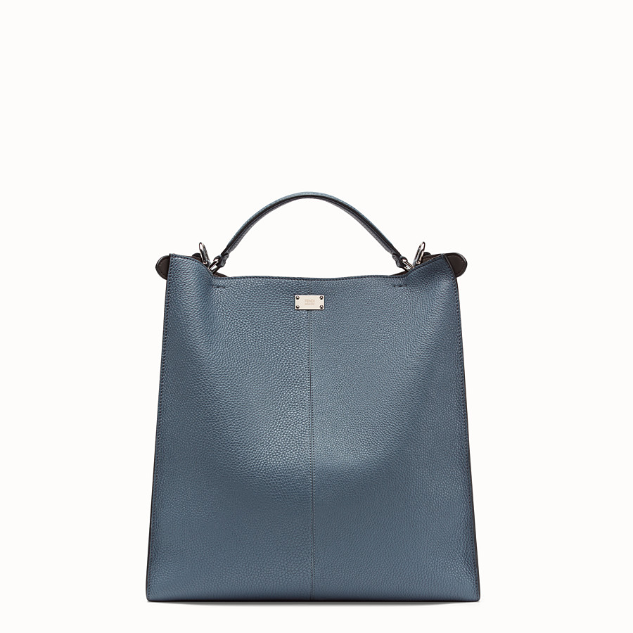 FENDI PEEKABOO X-LITE FIT - Blue Romano leather bag - view 4 detail
