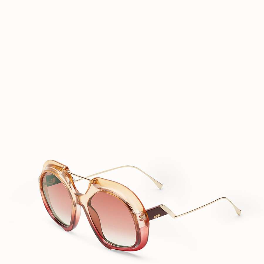 FENDI TROPICAL SHINE - Pink and red sunglasses - view 2 detail