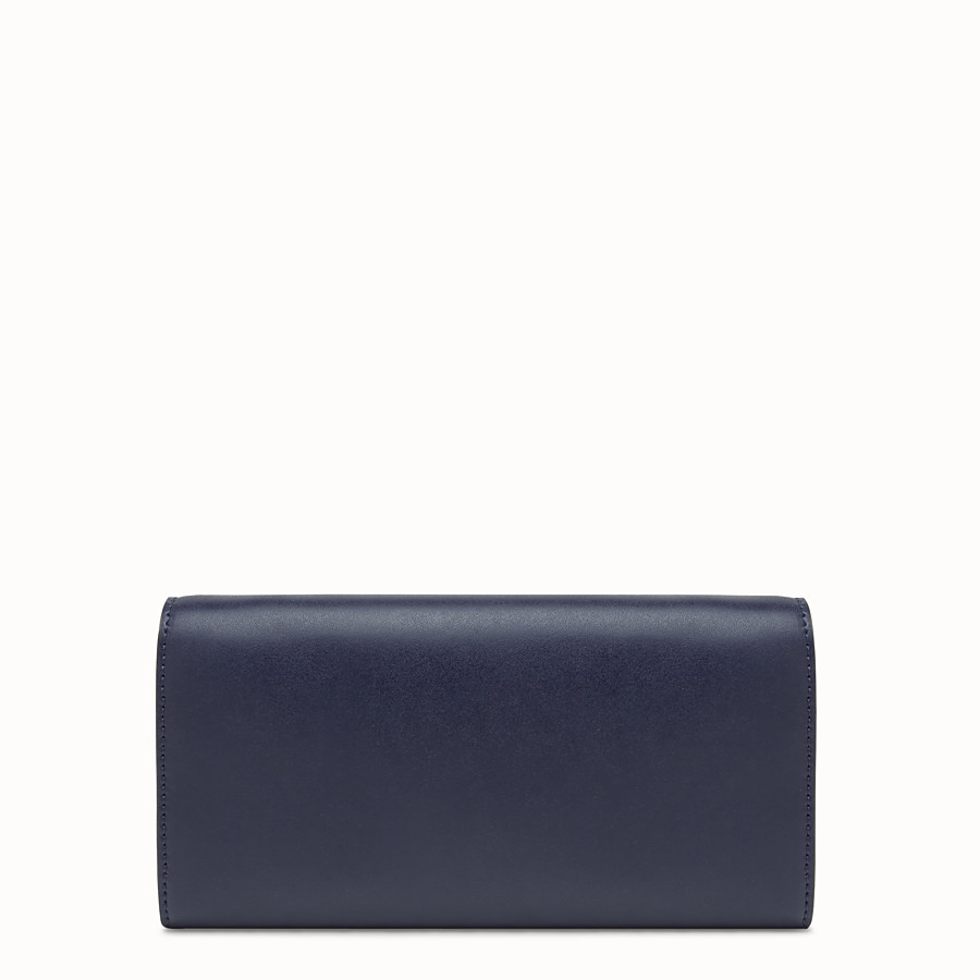 FENDI 체인 장지갑 - 블루 컬러의 가죽 스터드 지갑 - view 3 detail