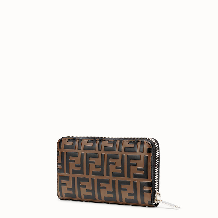 FENDI WALLET - Brown leather wallet - view 2 detail