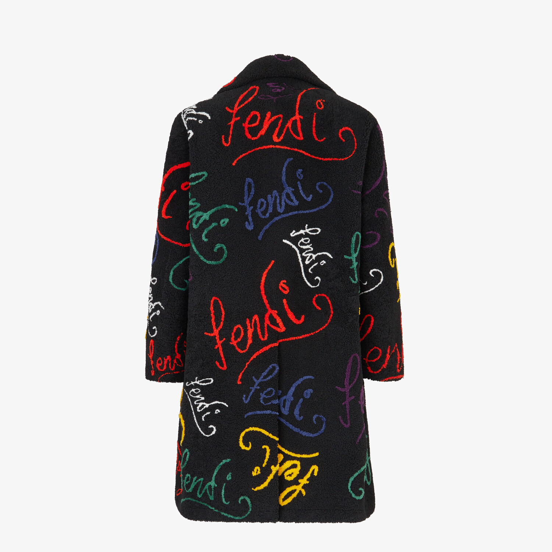 FENDI COAT - Black shearling coat - view 2 detail