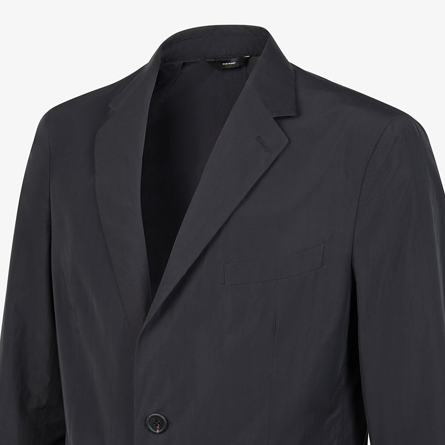 FENDI JACKET - Blazer in black nylon and cotton - view 4 detail