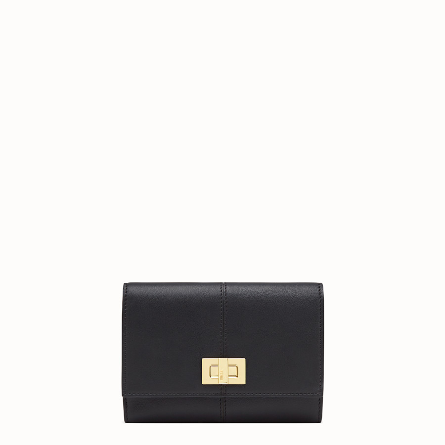 FENDI WALLET - Black leather cardholder - view 1 detail