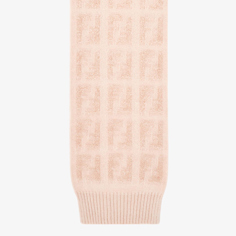FENDI SCARF - Pink knit scarf - view 1 detail