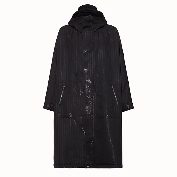 FENDI PARKA - Black tech wool parka - view 1 small thumbnail