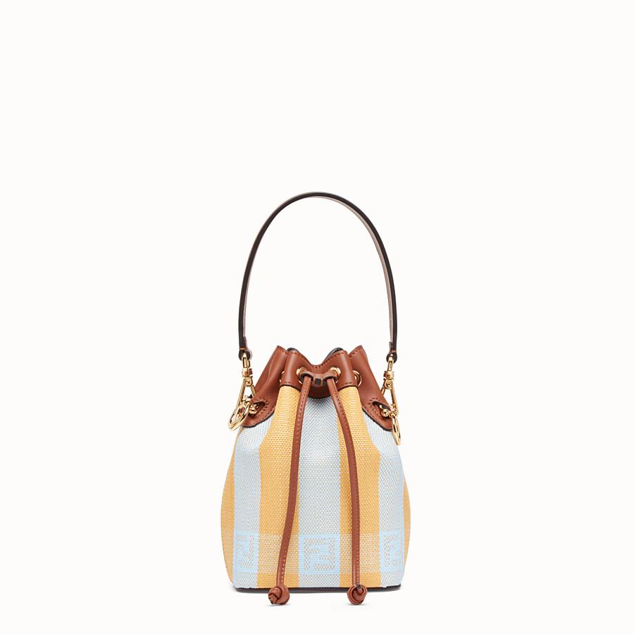 FENDI MON TRESOR - Yellow raffia mini-bag - view 1 detail