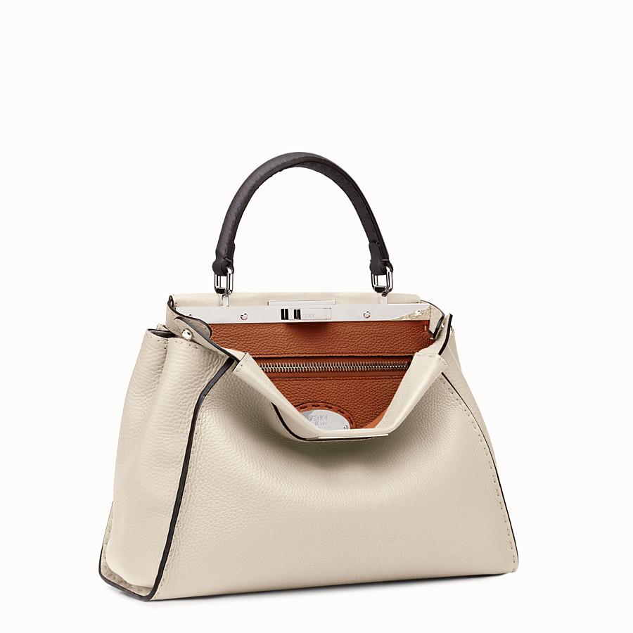 FENDI SELLERIA PEEKABOO - white Roman leather handbag - view 2 detail