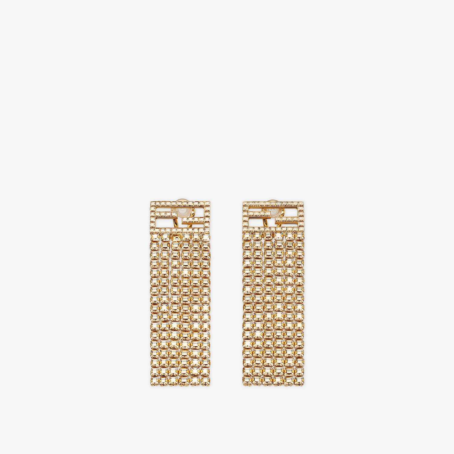FENDI BAGUETTE EARRINGS - Gold-color earrings - view 1 detail
