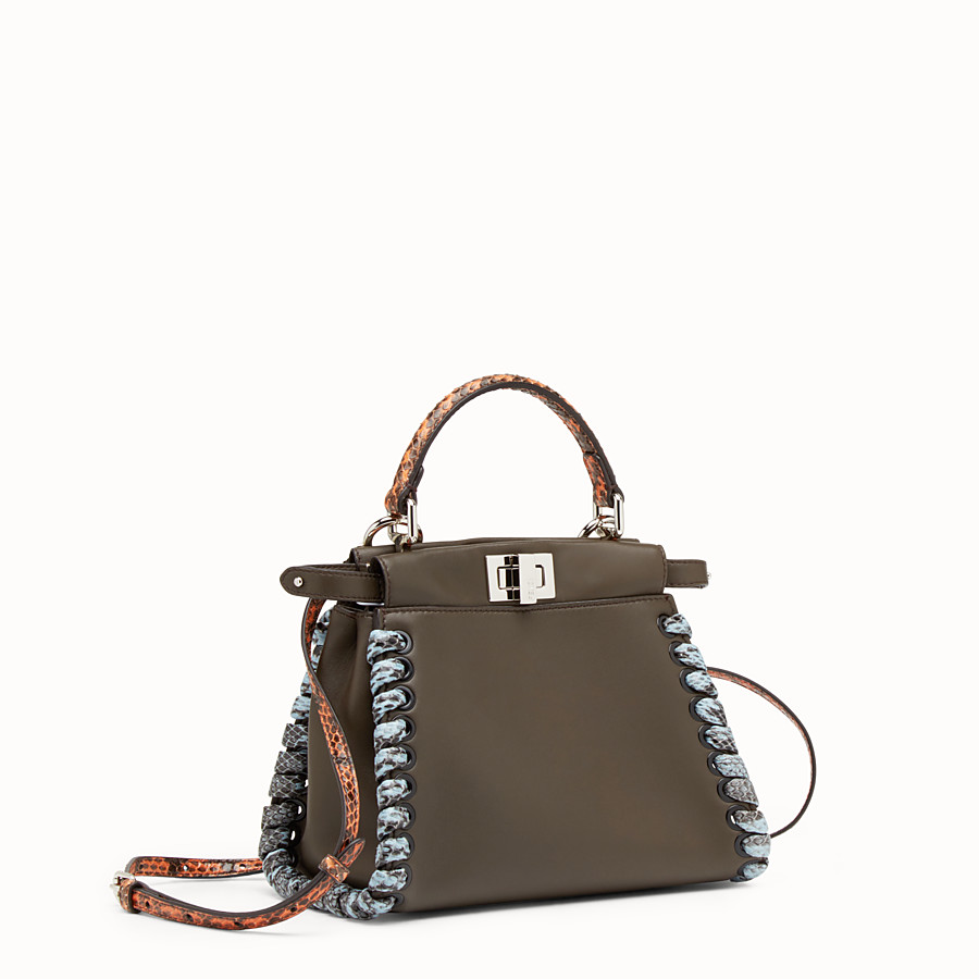 FENDI PEEKABOO MINI - Nappa leather handbag - view 2 detail