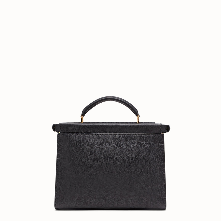 FENDI PEEKABOO ICONIC FIT MINI - Tasche aus Leder in Schwarz - view 3 detail