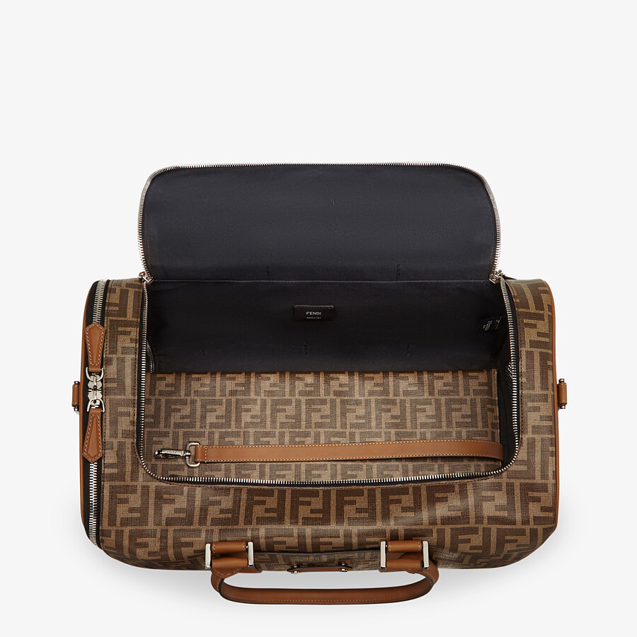 FENDI PET CARRIER - Brown fabric dog carrier - view 3 detail