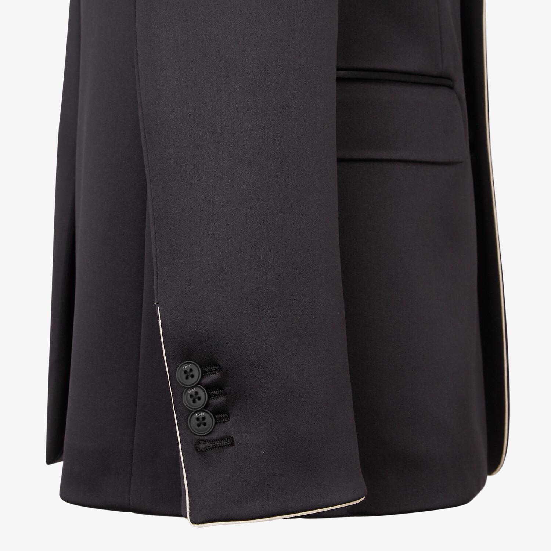 FENDI JACKET - Black satin blazer - view 3 detail