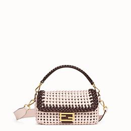 FENDI BAGUETTE - Pink leather interlace bag - view 1 thumbnail