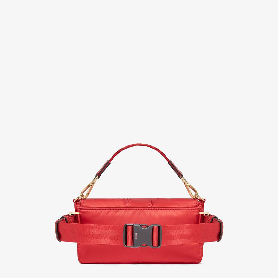 FENDI BAGUETTE FENDI AND PORTER - Red nylon bag - view 3 detail