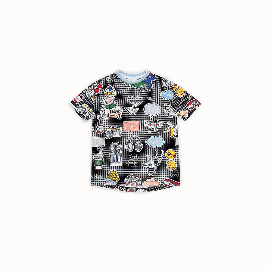 FENDI T-SHIRT - Jersey T-shirt with all-over print - view 1 detail
