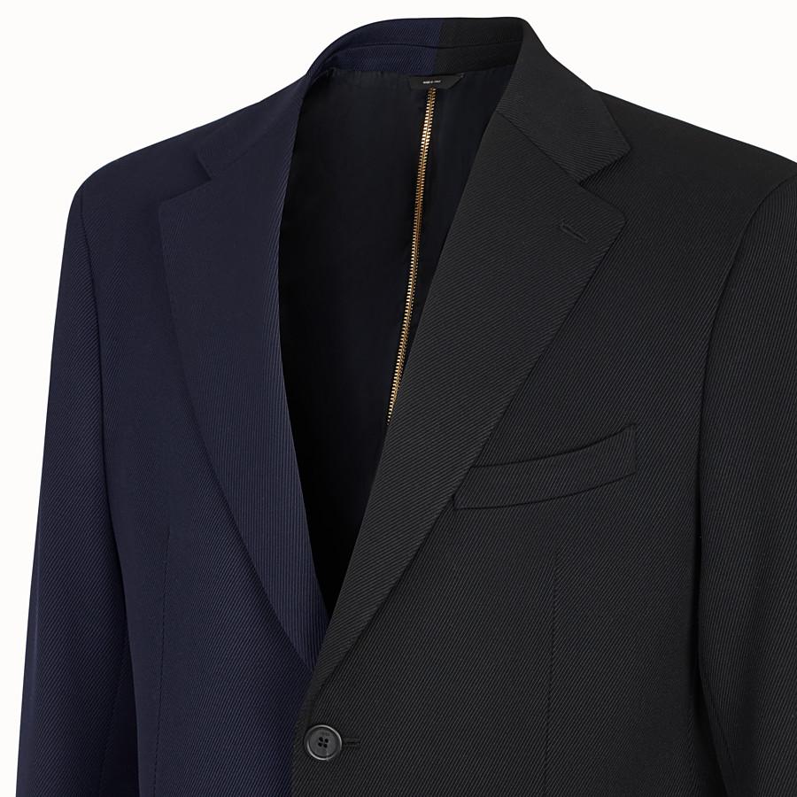 FENDI JACKET - Multicolour gabardine blazer - view 4 detail